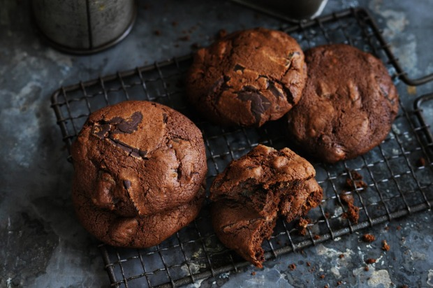 Dan Lepard's date and ginger chocolate chip biscuits. <a ...
