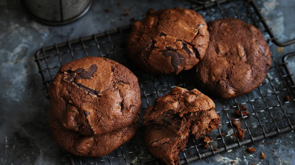 Delicious and totally doable: Dan Lepard's date and ginger chocolate chip biscuits.