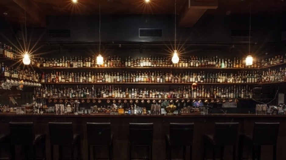 Back bar at Eau De Vie. 1 Malthouse Lane, Melbourne. To be used for upcoming story by Fred Siggins.