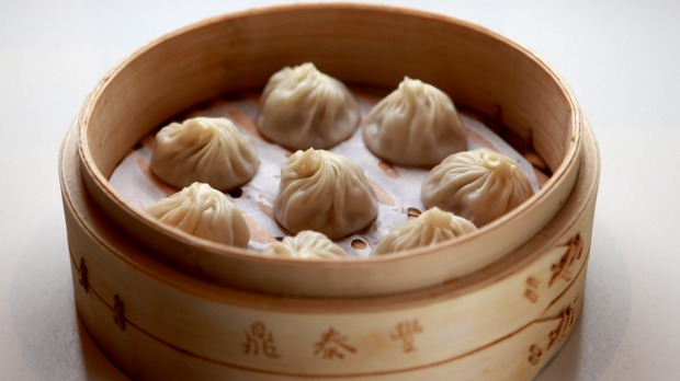 MELBOURNE, AUSTRALIA - JUNE 24: The Xiao Long Bao dumplings served at newly opened global dumpling chain Din Tai Fung at Emporium Melbourne on June 24, 2015 in Melbourne, Australia. (Photo by Wayne Taylor/Fairfax Media)