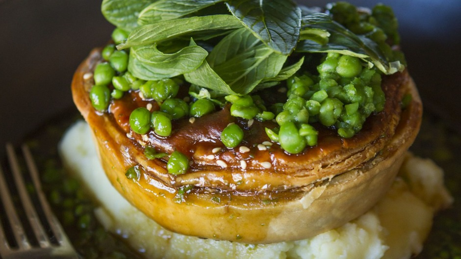 The chicken and tarragon pie at the Hotel Palisade.