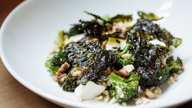 Salad of broccolini, tofu, walnut and toasted seaweed from Supernormal.