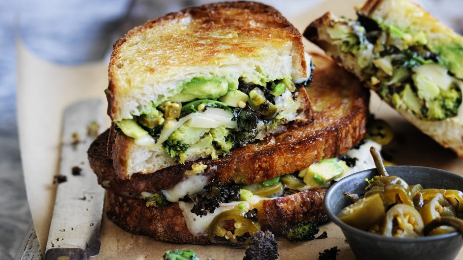 Eat your greens: Grown-up cheese toasties.