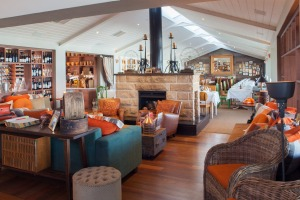 Donovan's restaurant in Melbourne opts for a less formal setting with a fireplace and couches.
