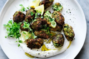 Neil Perry's Turkish zucchini and dill fritters.