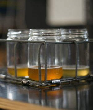 Jars, not schooners, at Batch Brewing Company, Marrickville.