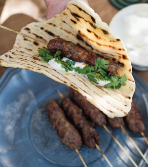 Balkan inspired:  herbed cevaps are a version of cevapcici.