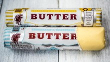Batch-churned cultured butter from Myrtleford Butter Factory.