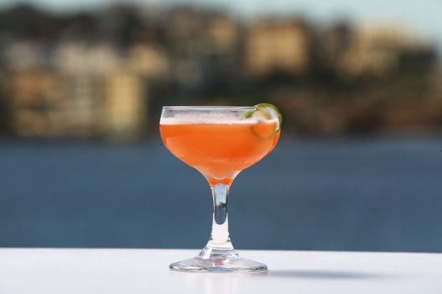 A cocktail from Icebergs.