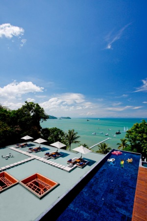 Take breakfast by the pool overlooking the ocean at Sri Panwa resort.