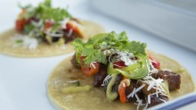Tacos at Up In Smoke restaurant in Footscray.