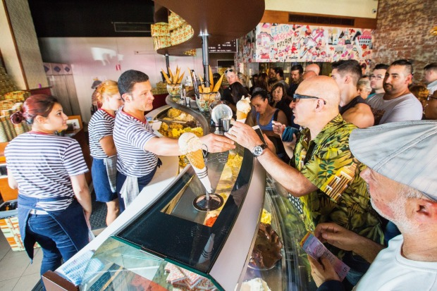 Gelato Messina in Collingwood attracts a crowd.