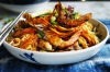Dragon and phoenix longevity noodles aka stir-fried Hokkien noodles with prawns and chicken <a ...
