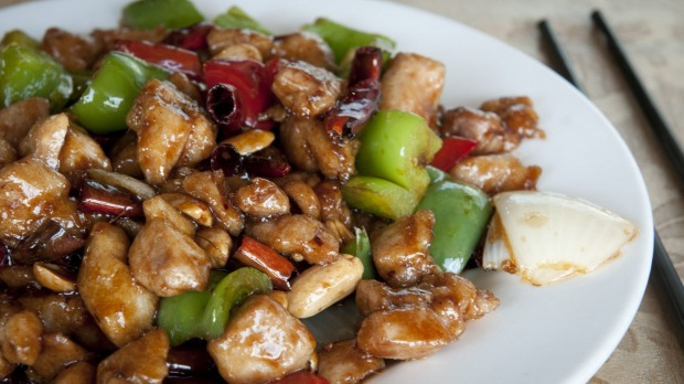 Kung pao chicken is a hot order at Fortune Well Sichuan.