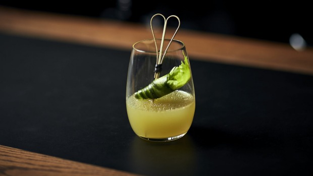 Bentley's El Verde is a green-tea-based mocktail.