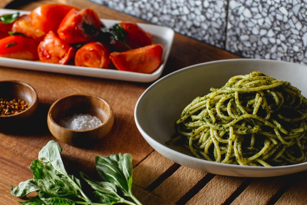 Or stir through her Sicilian pesto and serve with a warm tomato salad <a ...