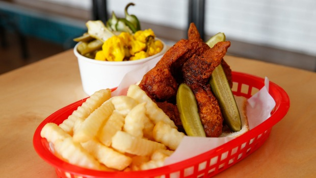 Not just noodles: Taste the fried chicken rainbow at Belle's Hot Chicken party.