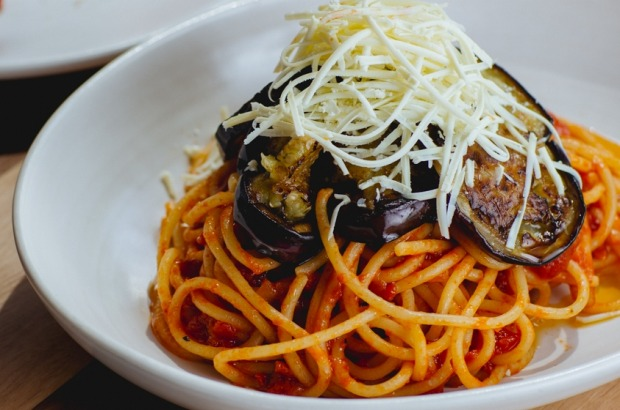 Rosa Mitchell's pasta all a norma with eggplant and grated salted ricotta <a ...