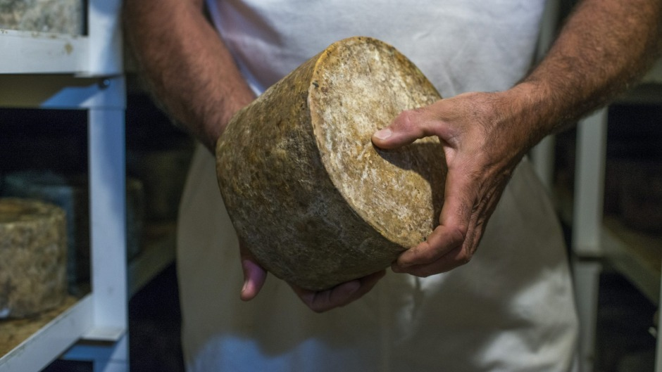 "Ian Fowler of Bay of Fires in Tasmania is again in the running for ""best cheddar""."