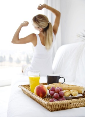 It's best to have a regular schedule seven days a week - getting up and going to bed at the same time and eating our ...