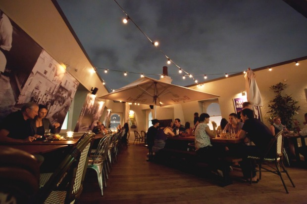 The rooftop is part of the charm of The Local Taphouse, Darlinghurst.