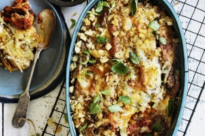 cr: William Meppem. GW food - March 7. Neil Perry's zucchini parmigiana.  SMH GOOD WEEKEND Picture by WILLIAM MEPPEM ...