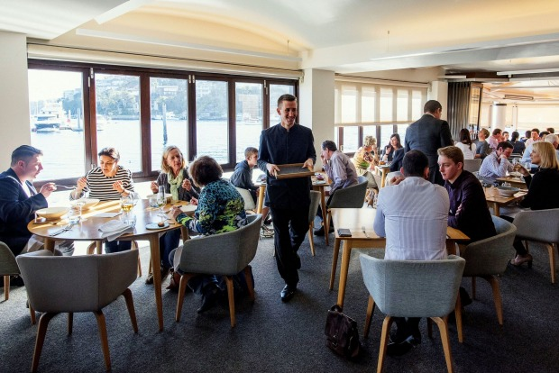 Waterfront dining: Ormeggio at the Spit, Sydney.