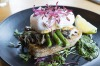 Mushrooms, salsa verde, haloumi, asparagus and poached eggs at Common Galaxia.