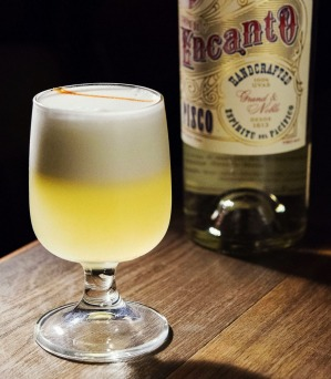 A typical pisco sour.