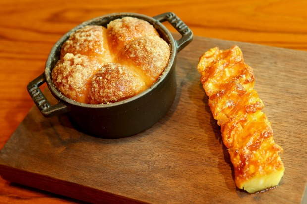 Tipsy cake with spit-roasted pineapple at Dinner by Heston.