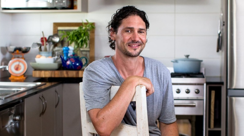 Colin Fassnidge in his kitchen at home.