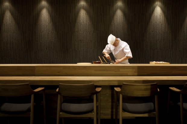 Prime position: Sit up at the bar to watch chef Koichi Minamishima at work.