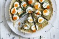 Photograph by William Meppem. SL food, april 3. Adam Liaw recipe : Scandinavian Cool - Swedish onion tart with salmon roe