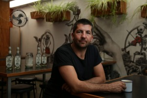 Paul Aron, owner of El Publico restaurant and bar and Mary Street Bakery; photographed in El Publico, Beaufort Street, ...