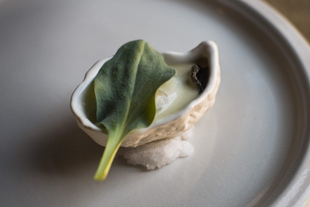 Grilled oyster from Igni, Geelong.