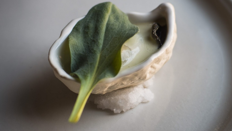 Grilled oyster at Igni, Geelong.
