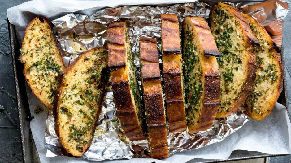 Turn your aspirational isolation sourdough into 'doozy' garlic bread. Then serve it with some Spag Bol.