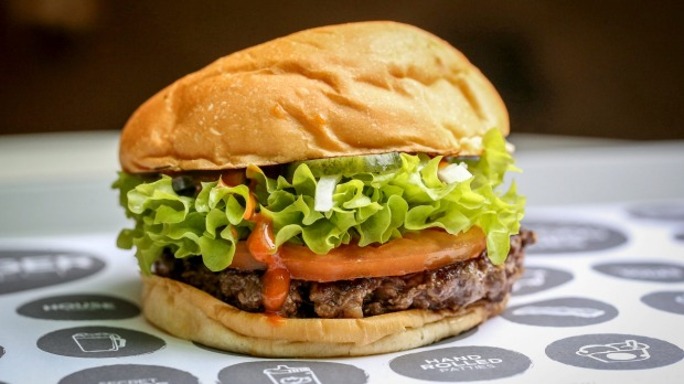 The Classic burger from Neil Perry's The Burger Project.