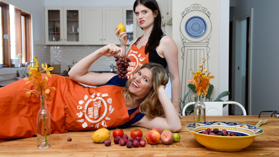 The Katering Show's Kate McCartney (top) and Kate McLennan.