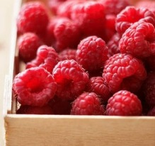 Raspberries, one of the highlights of summer.
