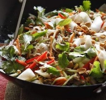 Quick and flavour-packed ... Pork and noodle stir-fry.