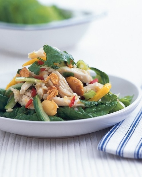 """Vietnamese-style chicken and mango lettuce cups <a href="""" ..."""