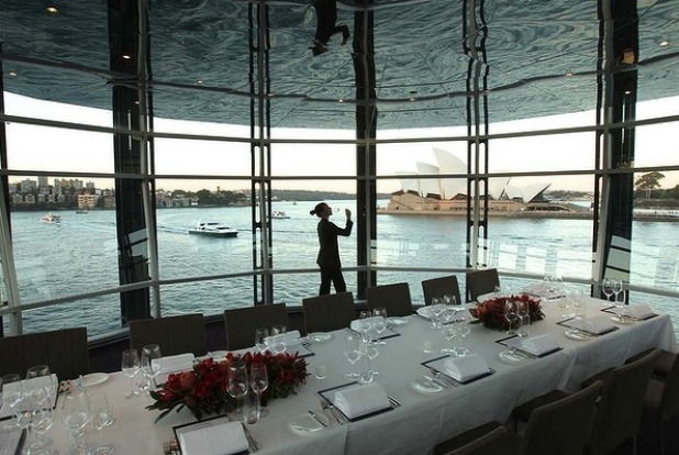 Big night out ... Quay Restaurant at the Overseas Passenger Terminal, The Rocks