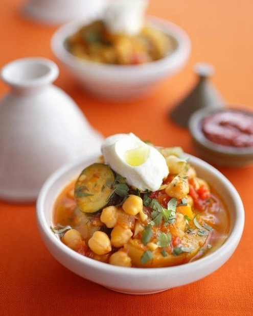 An aromatic vegetarian tagine packed with pumpkin, potatoes and chickpeas <a ...