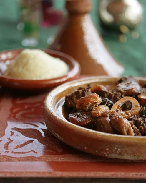 Beef tagine with dried fruits and ras el hanout (Stephanie Alexander swears it's even better when reheated the next day) ...