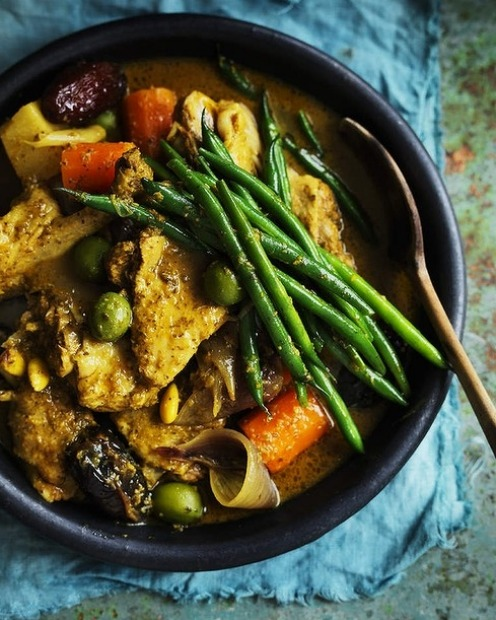 Neil Perry's duck, olive and date tagine with chermoula <a ...