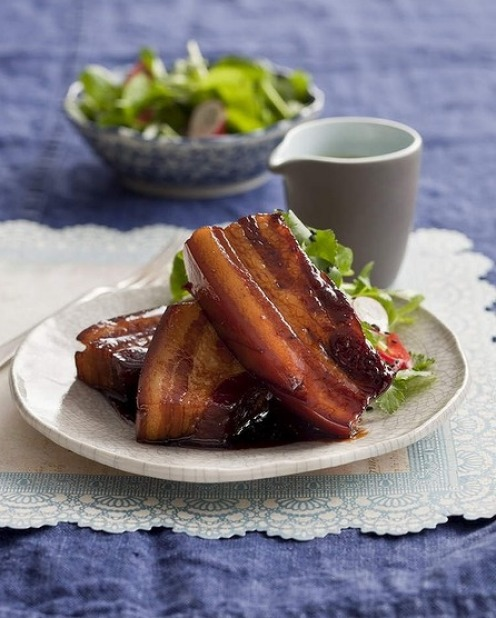 Caroline Velik's caramelised pork belly <a ...