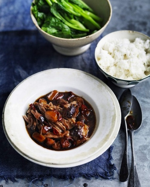 Neil Perry's braised pork with water chestnuts. <a ...