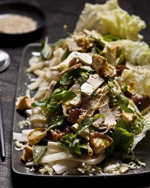 Karen Martini's Chinese cabbage, shiitake and tofu salad <a ...