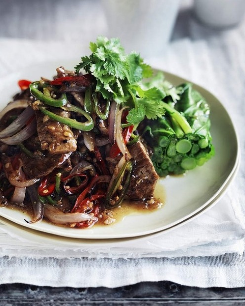 Spice up a banquet with this tasty black pepper and chilli lamb <a ...